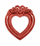 Red Heart Picture Frame Stock Images