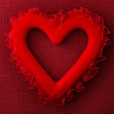 Red heart pillow Royalty Free Stock Photo