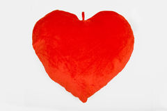 Red heart pillow Stock Image