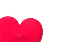 Red heart pillow on white Stock Photography