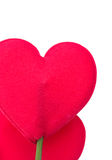 Red heart pillow on white Stock Photo