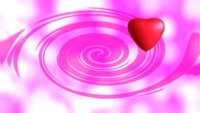 Red heart. On pink background Royalty Free Stock Image