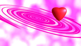 Red heart. On pink background Stock Photos