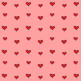 Red heart with pink wallpaper great for any use. Vector EPS10. Royalty Free Stock Photo