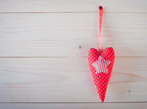 Red heart with polka dots Stock Photography