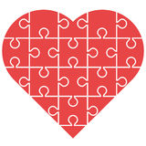 Red heart puzzle Stock Photography