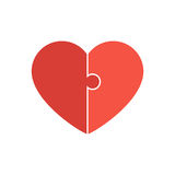Red heart puzzle Stock Photo