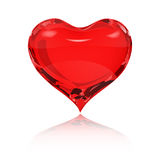 Red heart with reflection Stock Photography