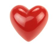Red heart with reflections Stock Photography