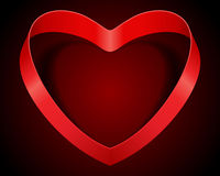 Red heart from ribbon Royalty Free Stock Photo