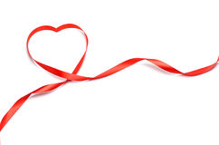 Red heart ribbon Royalty Free Stock Photos