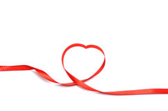 Red heart ribbon Stock Photos