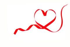 Red heart ribbon Royalty Free Stock Photo
