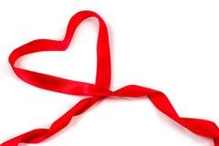 Red heart ribbon bow Stock Photos
