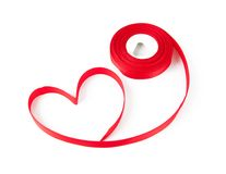 Red heart ribbon bow Stock Images