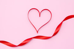 Red heart ribbon Stock Photography