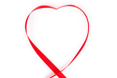 Red heart ribbon Royalty Free Stock Photography
