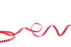 Red heart ribbon Stock Image