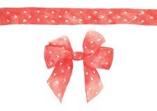 Red heart ribbon stock illustration