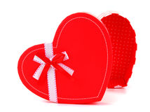 Red heart romantic gift Stock Photos