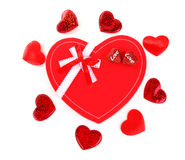 Red heart romantic gift Stock Photo