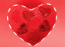 Red heart romantic gift Royalty Free Stock Image