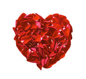 Red heart rose flowers isolated Royalty Free Stock Photography