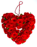 Red heart of roses Royalty Free Stock Photos