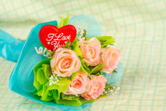 Red heart and roses Stock Photography