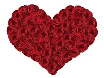 Red heart from roses. Stock Photo