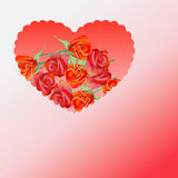 Red heart with roses Stock Photos