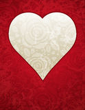 Red heart with roses, vector Stock Photo