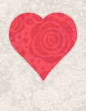 Red heart with roses, vector Royalty Free Stock Photos