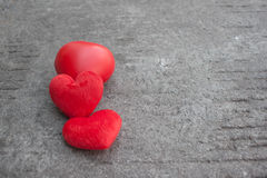 Red heart on rustic street for valentines day. Red heart on street and concrete Stock Images