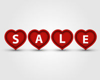 Red heart sale Royalty Free Stock Images