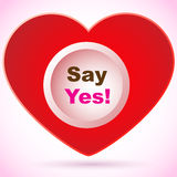 Red heart - Say yes! Stock Image
