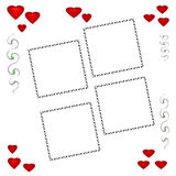 Red heart scrapbook Royalty Free Stock Image