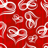 Red heart seamless Stock Image