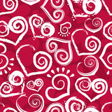 Red heart seamless Stock Images