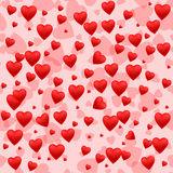 Red heart seamless pattern background Stock Photo