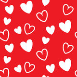 Red heart seamless pattern, for valentine event Royalty Free Stock Photo