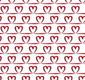 Red heart seamless pattern, vector. Endless texture can be used for wallpaper, pattern fills, web page,background,surface Royalty Free Stock Images
