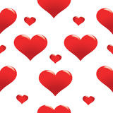 Red heart seamless pattern Royalty Free Stock Image