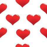 Red heart seamless pattern Royalty Free Stock Photos