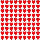 Red heart Seamless Pattern. Wrapping paper, textile template. White background. Isolated. Flat design. Red heart Seamless Pattern. Wrapping paper, textile Royalty Free Stock Images