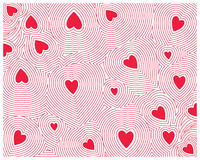 Red Heart seamless Royalty Free Stock Photography