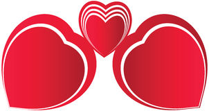 Red Heart seamless Royalty Free Stock Image