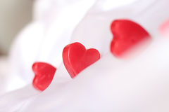 Red Heart selective focus Royalty Free Stock Photography