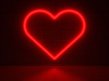 Red Heart - Series Neon Signs Royalty Free Stock Photos