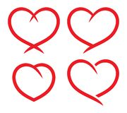 Red heart set Stock Photo